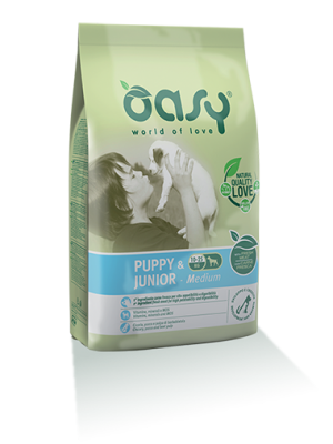 Oasy Puppy & Junior Medium Chicken 12kg