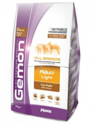 Gemon Dog Adult Light All Breeds Chicken 3kg