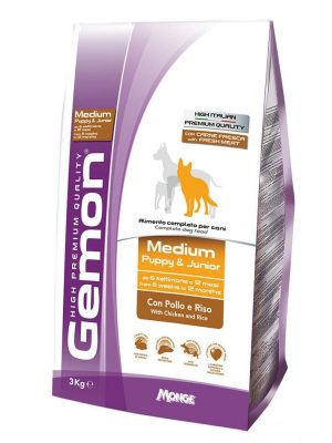 Gemon Puppy Medium Chicken & Rice 15kg