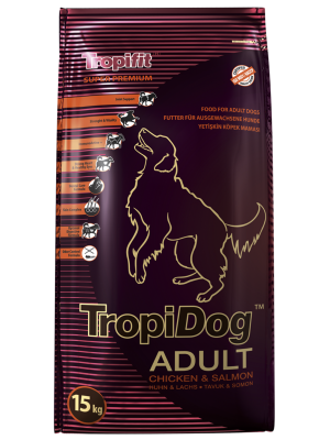 Tropidog Adult Medium & Large Breeds Chicken & Salmon 15kg