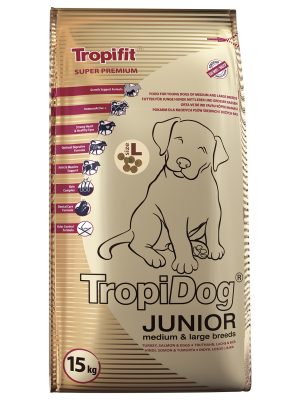 TropiDog Super Premium Junior Medium/ Large 15kg