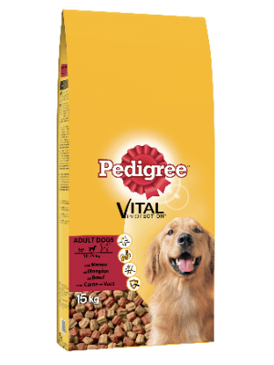 Pedigree Beef & Vegetables 15kg