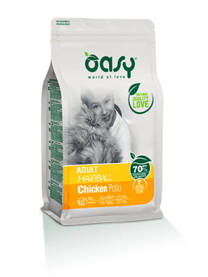 Oasy Adult Hairball Chicken 1.5kg