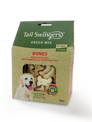Tail Swingers Green Mix – Bones Vegetarian 400gr