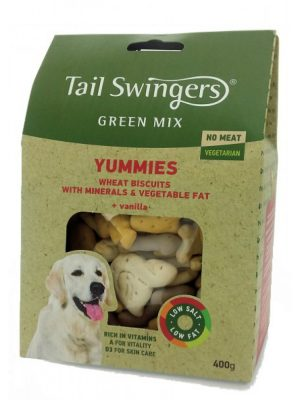 Tail Swingers Green Mix – Yummies Biscuits Vegetarian 400gr