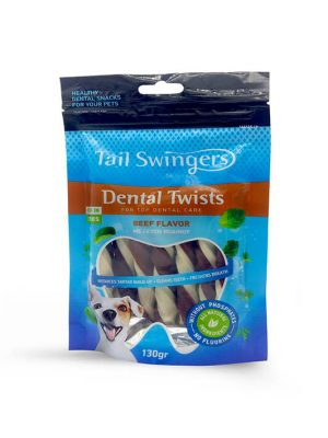 Tail Swingers Dental Sticks with Beef 130gr