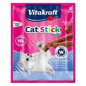 Vitakraft Cat Stick Mini Plaice & Omega 3 3τμχ