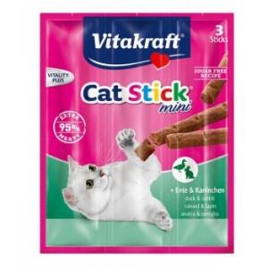 Vitakraft Cat Stick Mini Duck & Rabbit 3τμχ