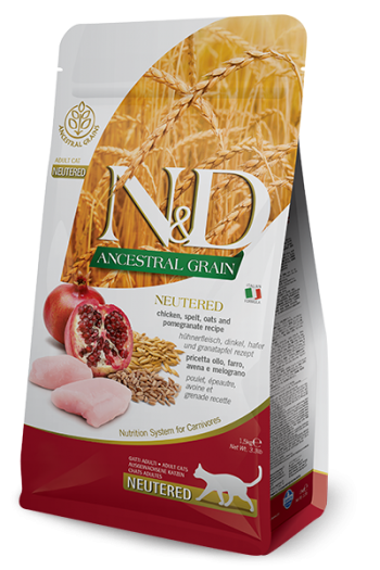 N&D Low Grain Chicken & Pomegranate Neutered Cat 5kg