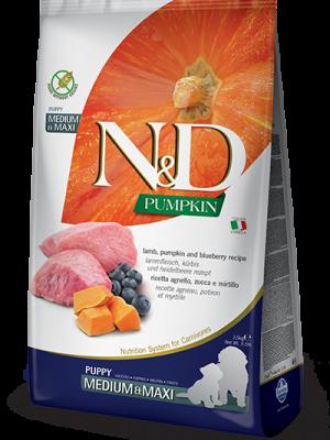 N&D Grain Free Pumpkin Lamb & Blueberry Puppy Medium/Maxi 12kg