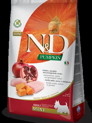 N&D Grain Free Pumpkin Chicken & Pomegranate Adult Mini 7kg
