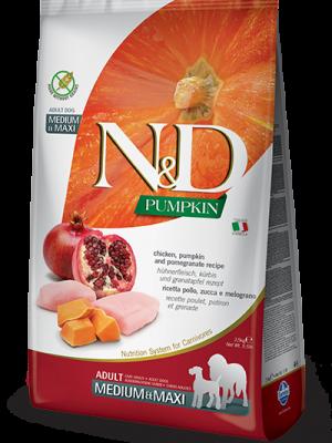 N&D Grain Free Pumpkin Chicken & Pomegranate Adult Medium/Maxi 12kg