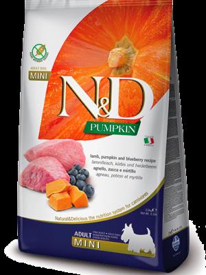 N&D Grain Free Pumpkin Lamb & Blueberry Adult Mini 2.5kg