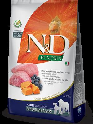 N&D Grain Free Pumpkin Lamb & Blueberry Adult Medium/Maxi 12kg