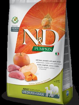 N&D Grain Free Pumpkin Boar & Apple Adult Medium/Maxi 12kg