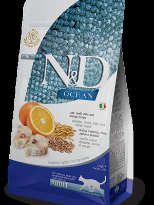 N&D Low Grain Ocean Fish & Orange Adult Cat 10kg