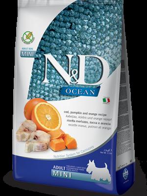 N&D Grain Free Ocean Pumpkin Fish & Orange Adult Mini 2.5kg