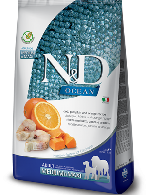 N&D Grain Free Ocean Pumpkin Fish & Orange Adult Medium/Maxi 12kg