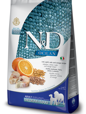 N&D Low Grain Ocean Fish & Orange Adult Medium/Maxi 2.5kg