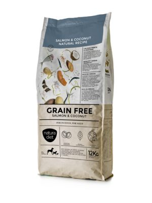 Natura Diet Grain Free Salmon &Coconut 12 kg