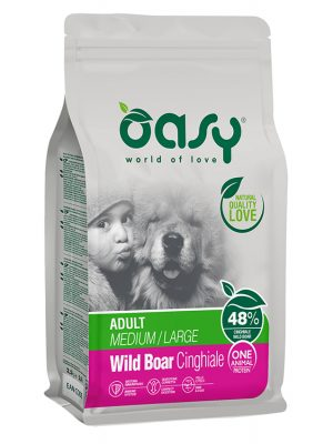 Oasy Adult Medium & Large Breeds Αγριογούρουνο 12kg