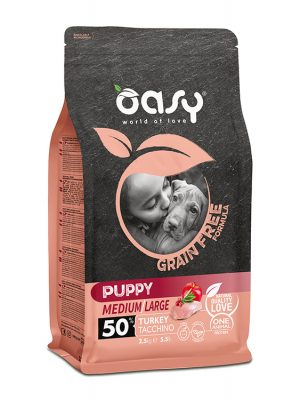 Oasy  Puppy Medium/Large Γαλοπούλα 2.5kg