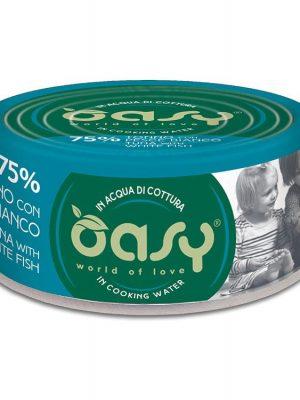 Oasy More Love Τόνος Με Λευκό Ψάρι 70gr