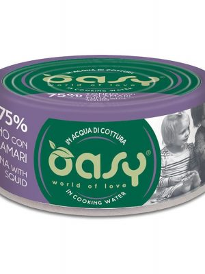 Oasy More Love Τόνος Με Καλαμάρι 70gr