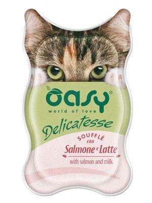 Oasy Σουφλέ Σολομός Με Γάλα 85gr