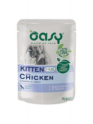 Oasy Kitten Κοτόπουλο 85gr